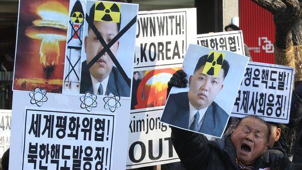Proteste contro il test della bomba H da parte della Corea del Nord - Sputnik Italia