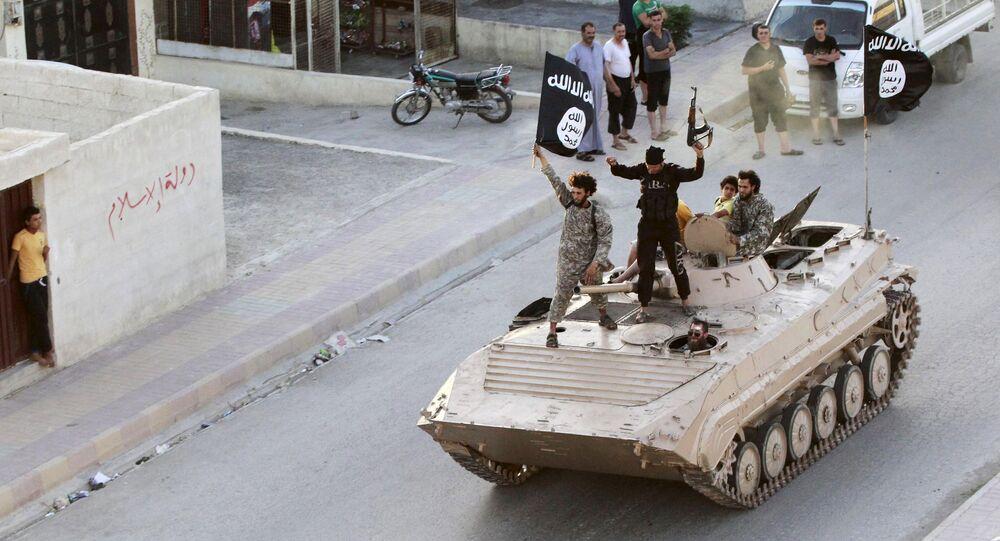 Terroristi del Daesh a Raqqa