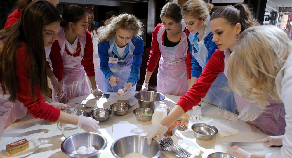 Miss Russia contest participants get prepared to Easter