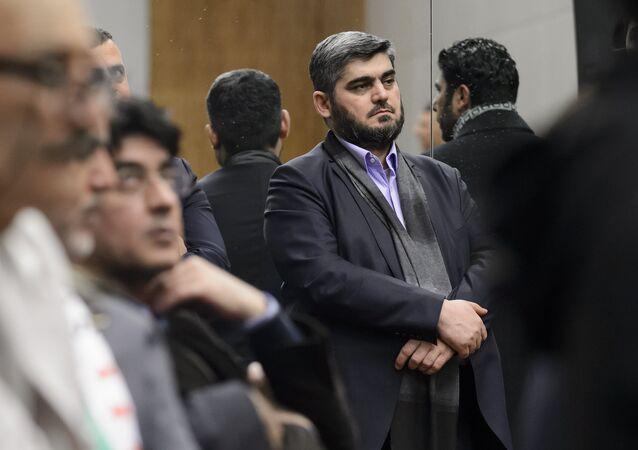 Mohammed Alloush, negoziatore capo dell'opposizione siriana filosaudita