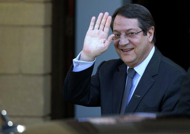 Il presidente cipriota Nicos Anastasiades