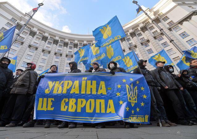 Manifestazioni a KIev: Ucraina è l'Europa (foto d'archivio)