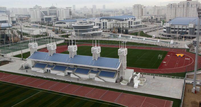 Il complesso olimpico di Ashgabat, già ultimato a due anni dai Giochi Asiatici Indoor del 2017