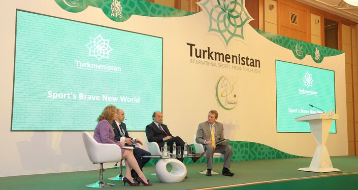 Un momento del Turkmenistan International Sports Media Forum