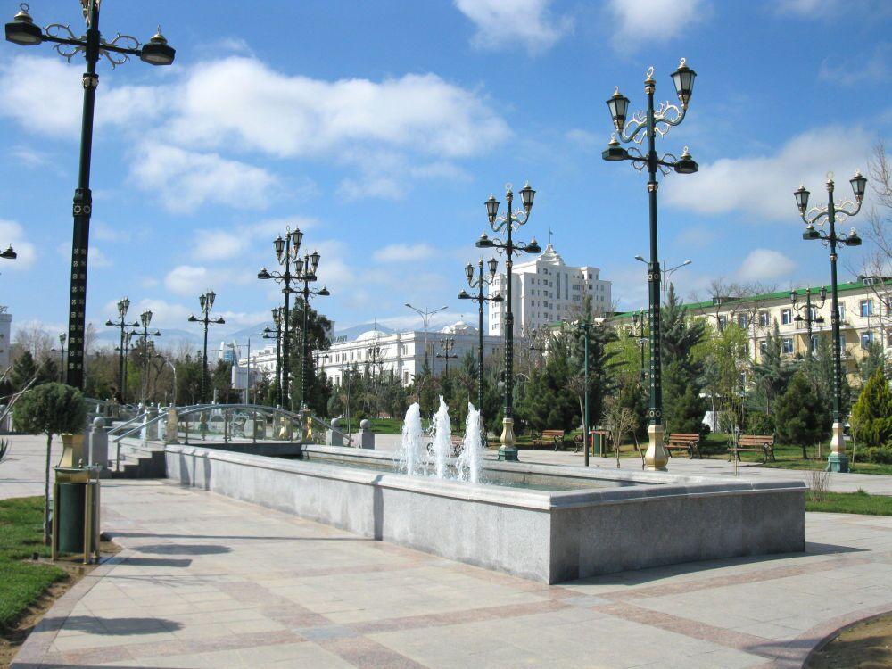 Ashgabat, fontane nel centro della città
