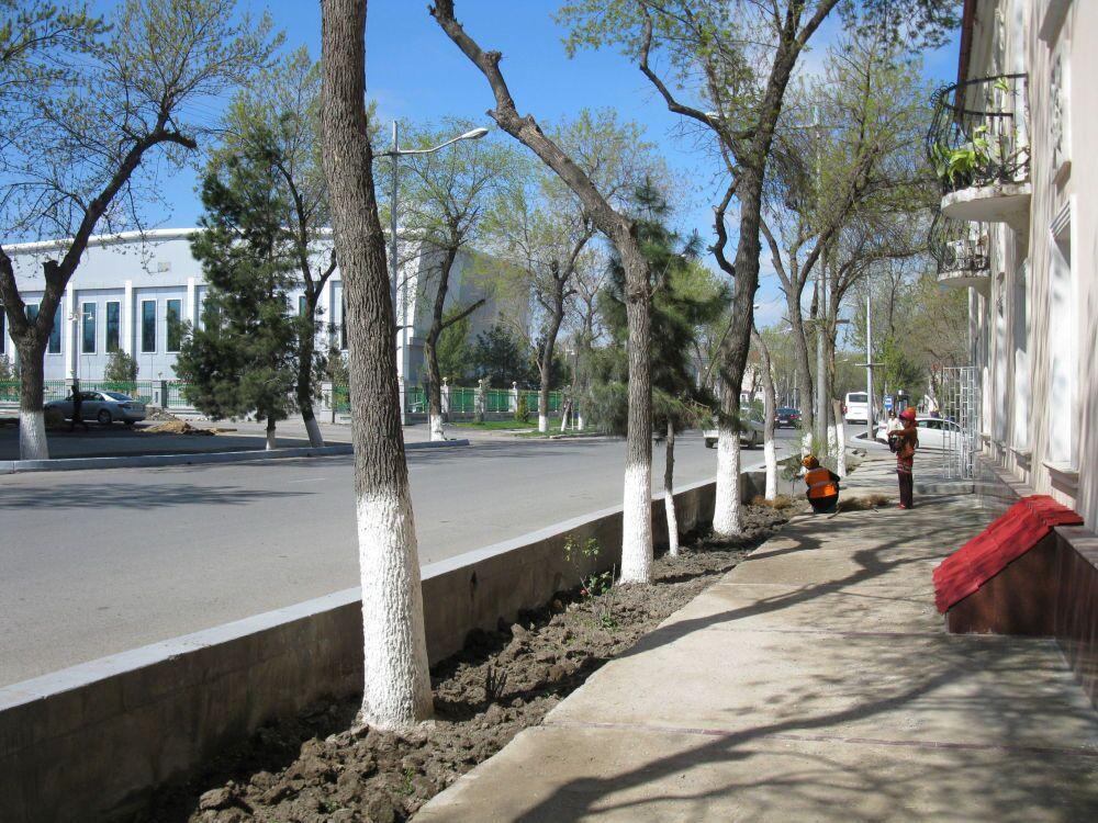 Ashgabat, la centrale via Lenin