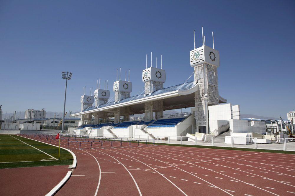 Lo stadio del complesso olimpico di Ashgabat