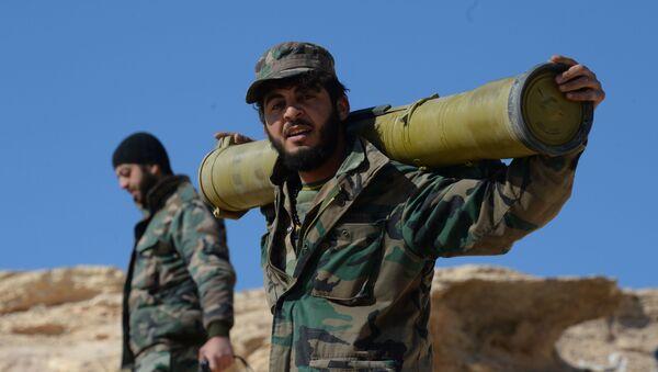 Позиции правительственной армии Сирии в окрестностях Пальмиры - Sputnik Italia