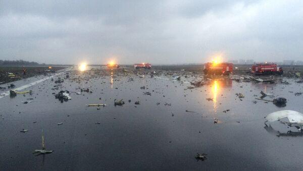 Veicoli di emergenza sulla pista dopo il disastro - Sputnik Italia
