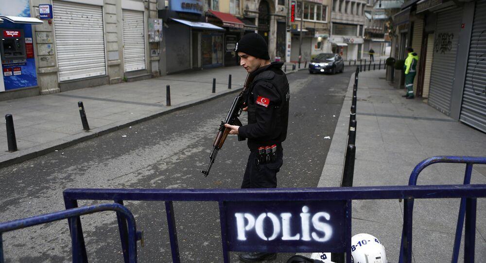 Luogo dell'attentato terroristico ad Istanbul