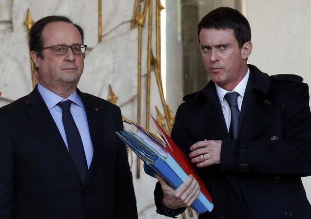 Francois Hollande e Manuel Valls