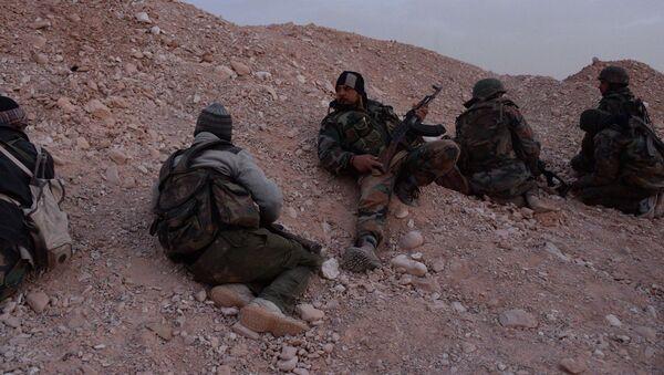 Forze filo-governative siriane nel fronte di Palmira - Sputnik Italia