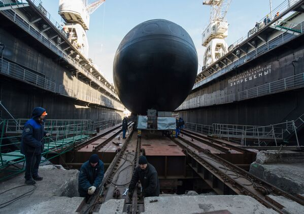 Il varo del sottomarino Velikij Novgorod - Sputnik Italia