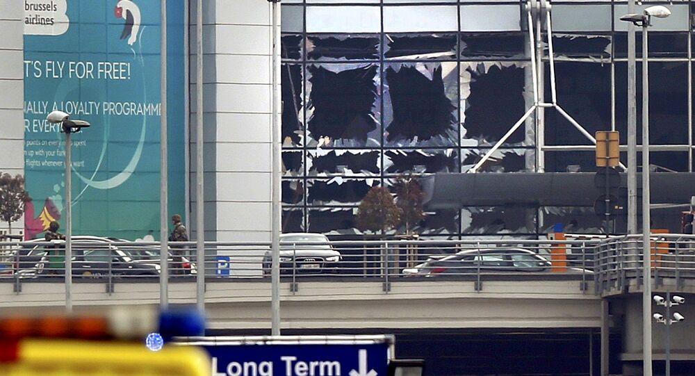 Aeroporto di Bruxelles dopo le esplosioni