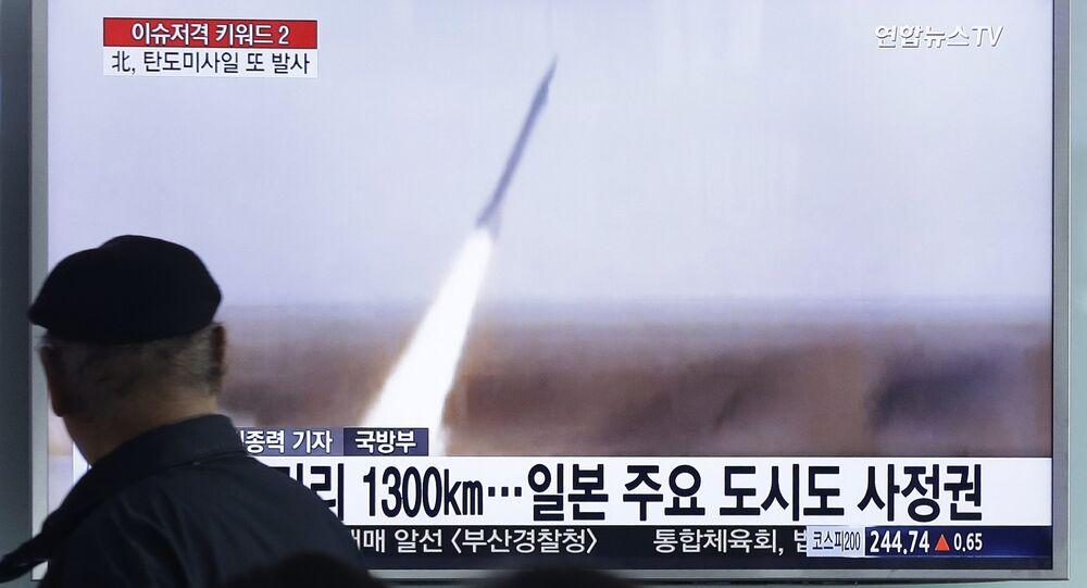 Corea del Nord, lancio di un missile