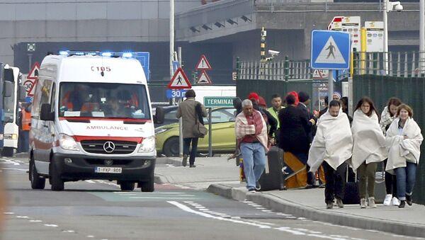 Dopo le esplosioni all'aeroporto Zaventem di Bruxelles. - Sputnik Italia