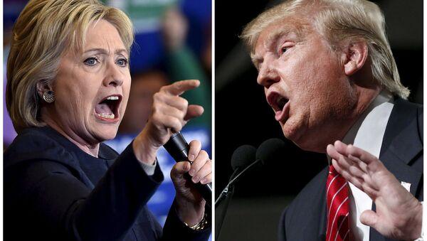 Democratic presidential candidate Hillary Clinton (L) and Republican presidential candidate Donald Trump (File) - Sputnik Italia