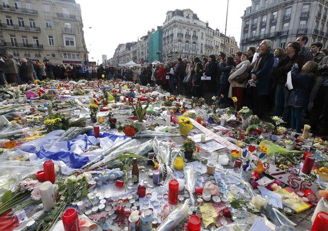 Commemorazione degli attentati di Bruxelles del 22 marzo.