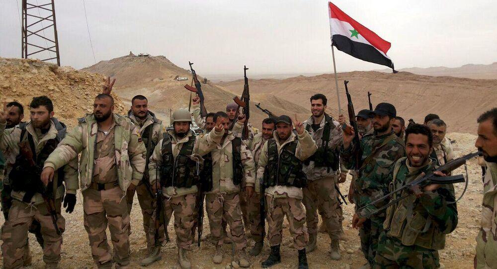 Esercito siriano a Palmira