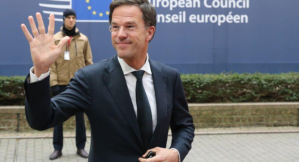 Il primo ministro olandese Mark Rutte