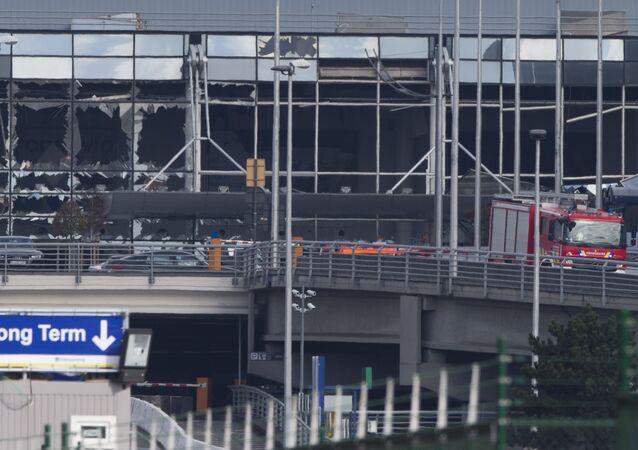 L'attaccato aeroporto Zaventem a Bruxelles