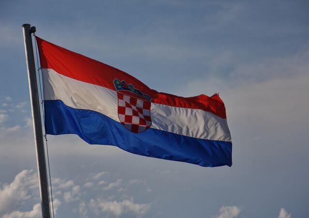 La bandiera della Croazia