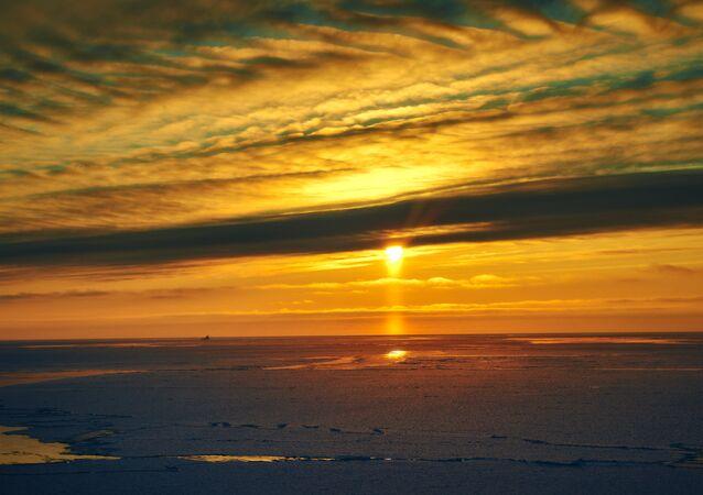 Tramonto nel Mare di Barents