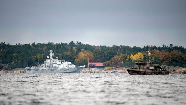 Operazione di ricerca nel Golfo di Stoccolma, ottobre 2014 - Sputnik Italia