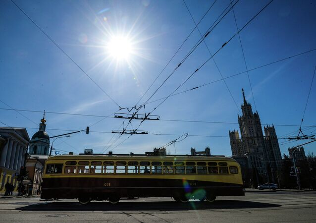 Tram parade 116 Years to Moscow Trams