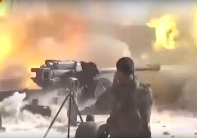 Elicotteri russi KA-52 contro il Daesh
