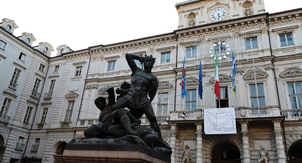 Torino, piazza Palazzo di Città