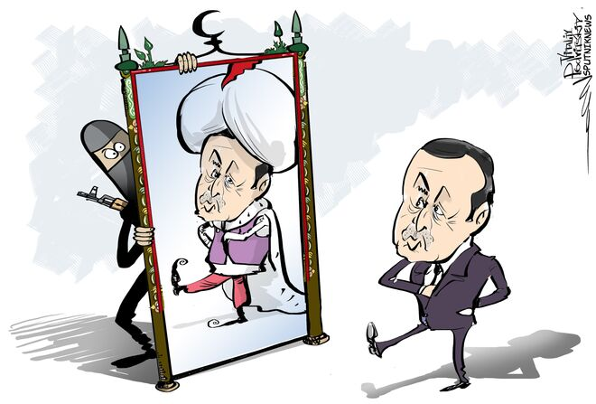 Turchia che assomigna la monarchia del Golfo Persico