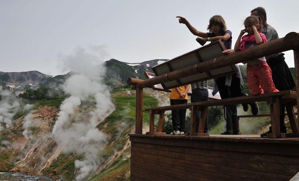 La valle dei Geyser in Kamchatka