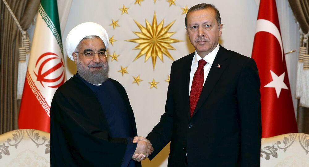 Incontro tra presidente Iran Rouhani e presidente Turchia Erdogan