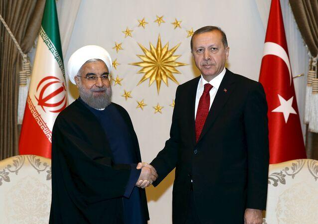 Rouhani ed Erdogan (foto d'archivio)