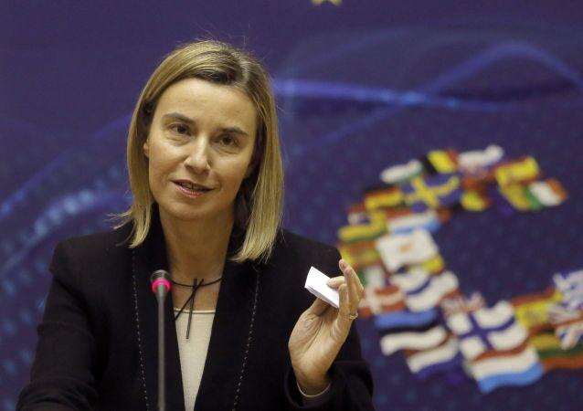 L'Alto rappresentante dell'Unione Europea per gli affari esteri e la politica di sicurezza Federica Mogherini