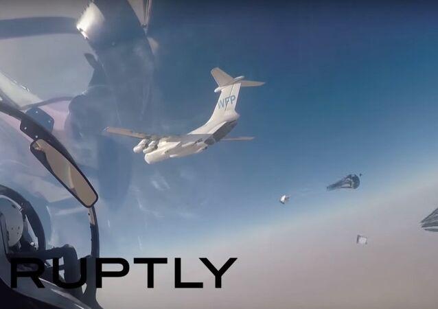 Lancio degli aiuti umanitari russi per i cittadini di Deir ez-Zor