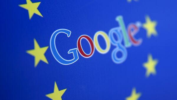 Logo di Google e l'Unione Europea - Sputnik Italia