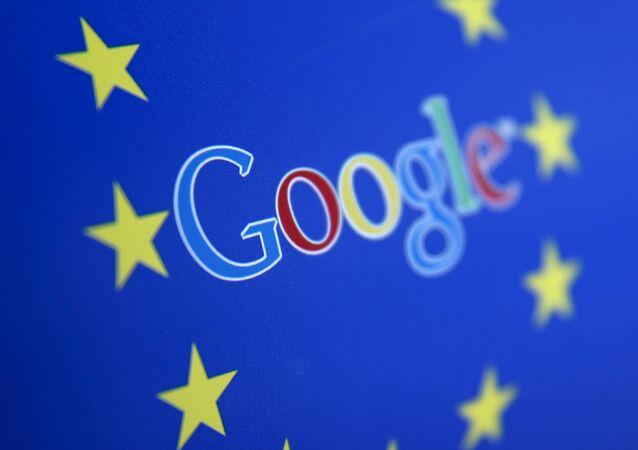 Logo di Google e dell'Unione Europea