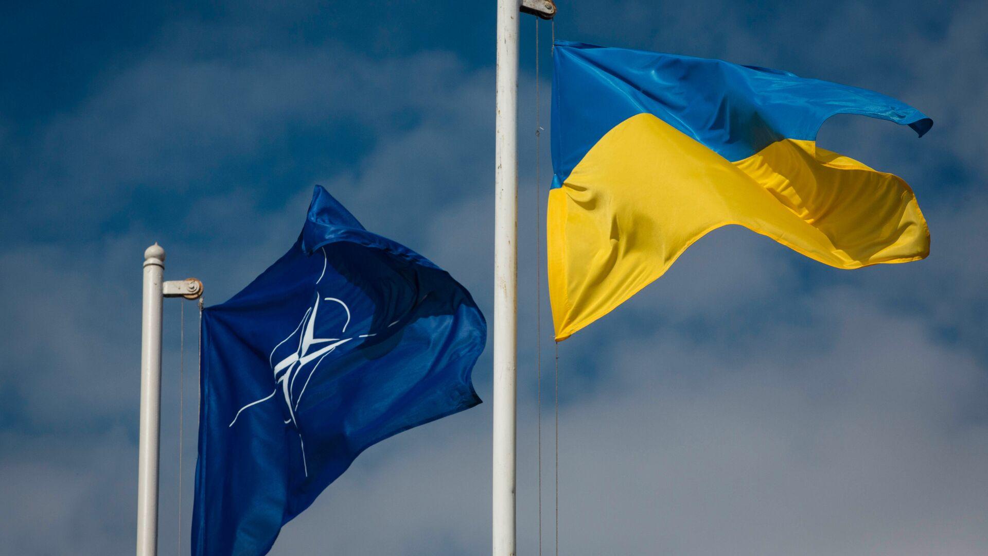 Bandiere dell'Ucraina e della NATO - Sputnik Italia, 1920, 11.06.2021