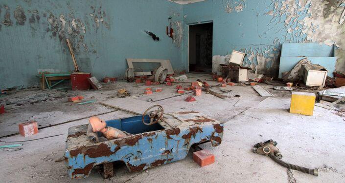 Pripyat, l'interno di quello che fino al 26 aprile 1986 era un asilo nido
