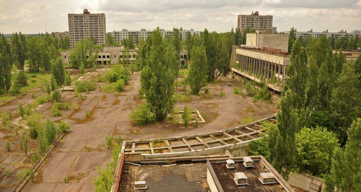 Veduta di quella che era la piazza centrale di Pripyat