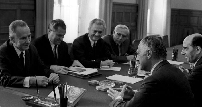 19 giugno 1970, l'allora primo ministro dell'URSS Kosygin incontra a Mosca Gianni Agnelli