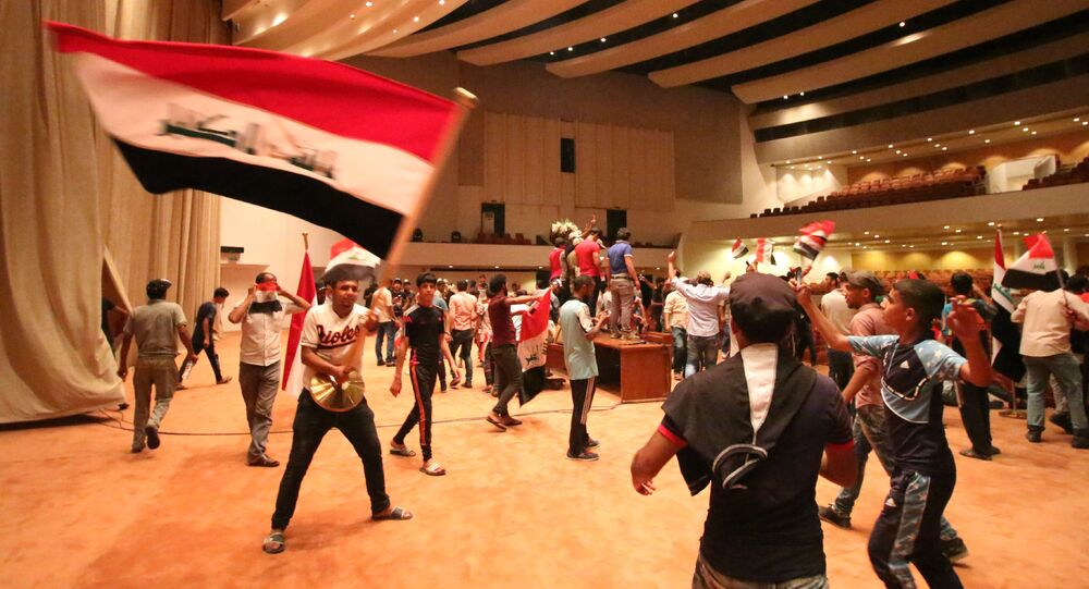 Sostenitori di Muqtada al-Sadr in Parlamento