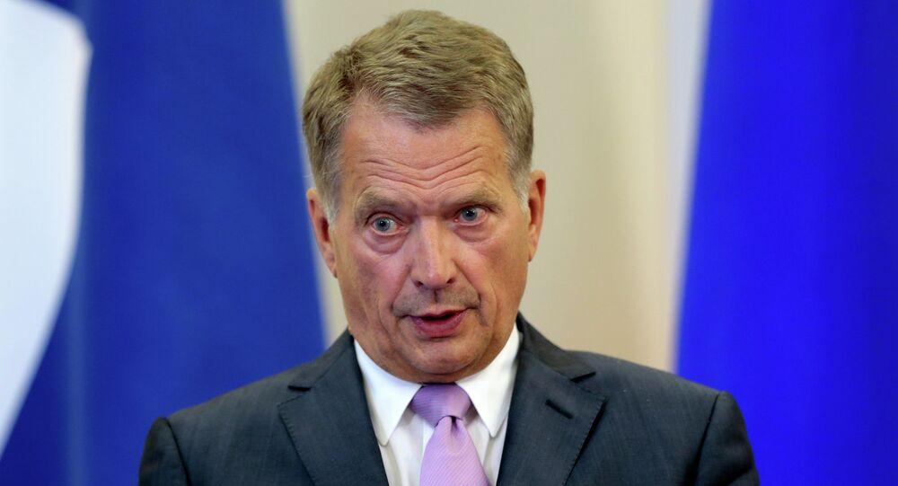 Presidente finlandese Sauli Niinistö (foto d'archivio)
