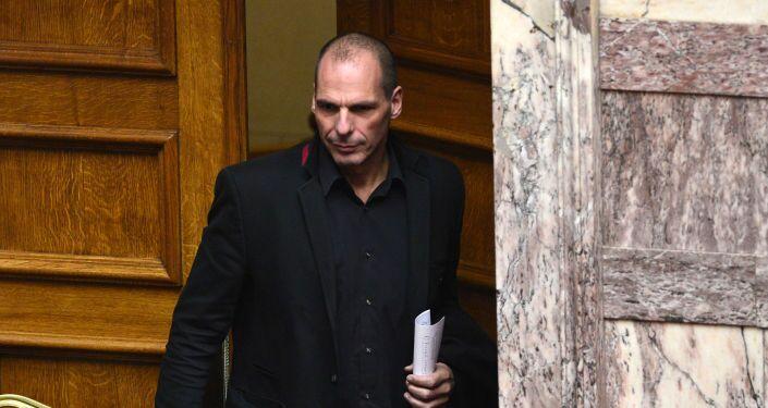 Yanis Varoufakis, ministro delle finanze greco .
