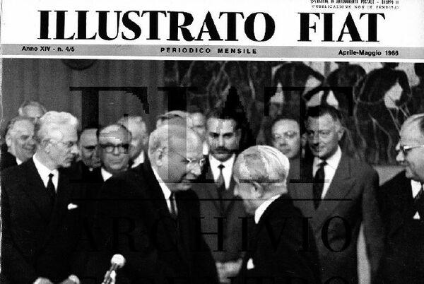 La copertina dell' Illustrato Fiat del maggio 1966, che saluta la firma dell'accordo con l'URSS - Sputnik Italia