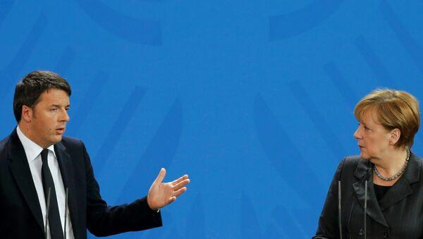 Angela Merkel e Matteo Renzi - Sputnik Italia