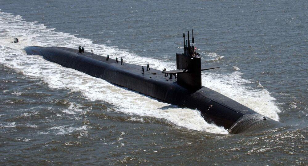 Sottomarino nucleare USA USS Florida (foto d'archivio)