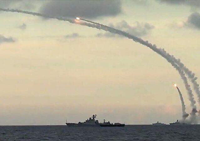 Lancio di un missile Kalibr